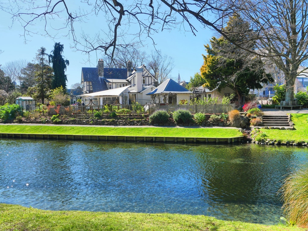 Christchurch city in New Zealand