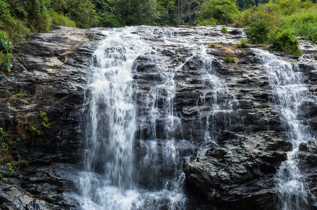 The beautiful Abbey Waterfalls in Coorg.