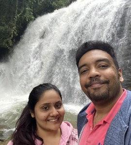 waterfalls at our coorg staycation