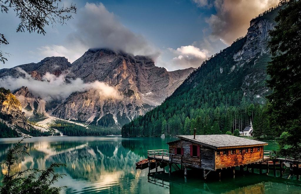 Natural Wonders of Italy, Pragser Wildsee lake.