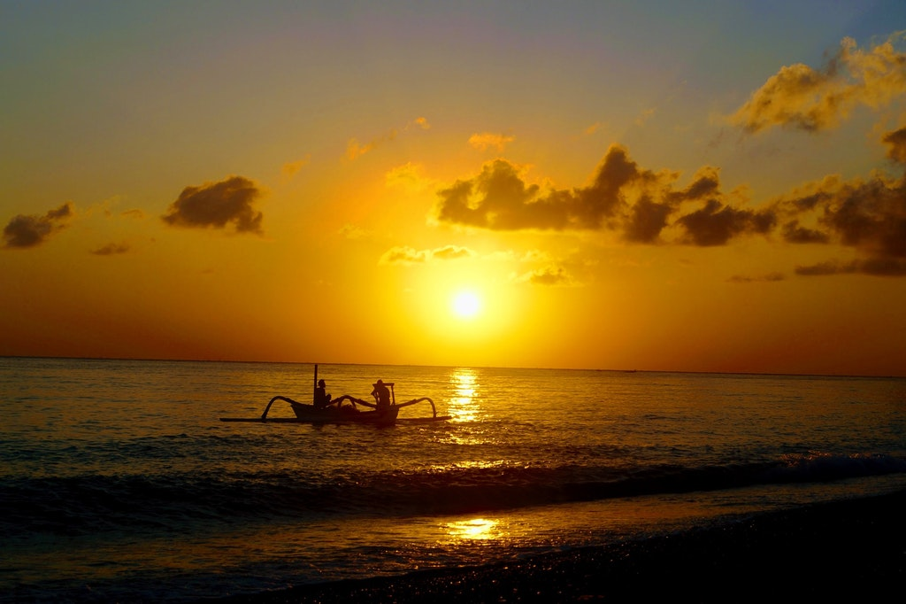 Amed Beach. Places to Watch Sunsets in Bali
