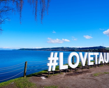 Freestanding letters mentioning as LOVETAUPO