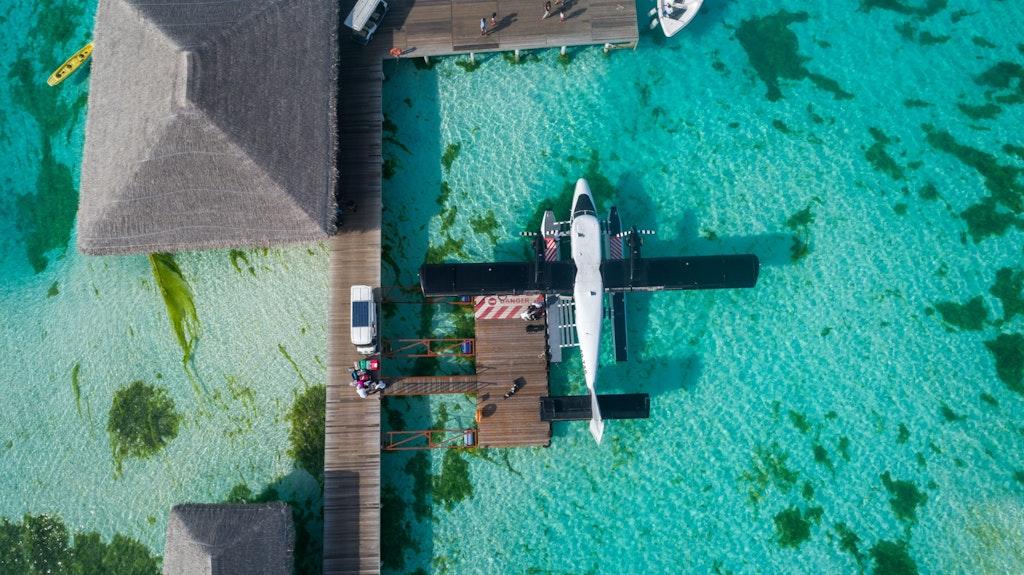 Sea Plane in a resort