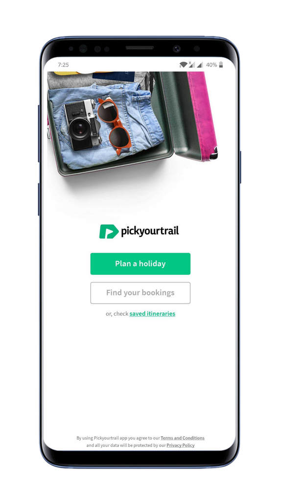 Plan a holiday using PYT app