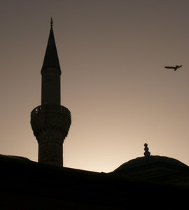A rooftop click of a mosque