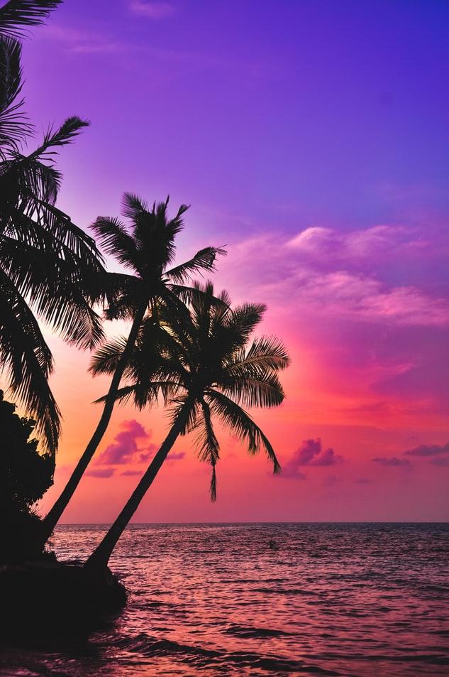 sunset in Nalaguraidhoo beach