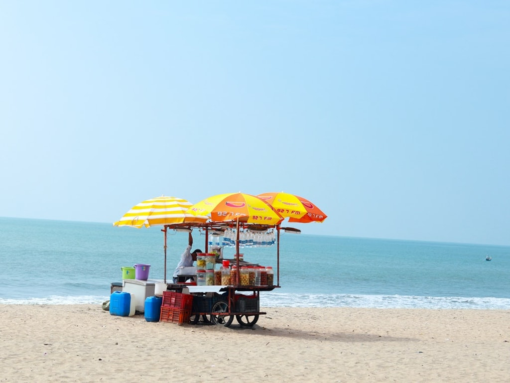 snack shop at beach