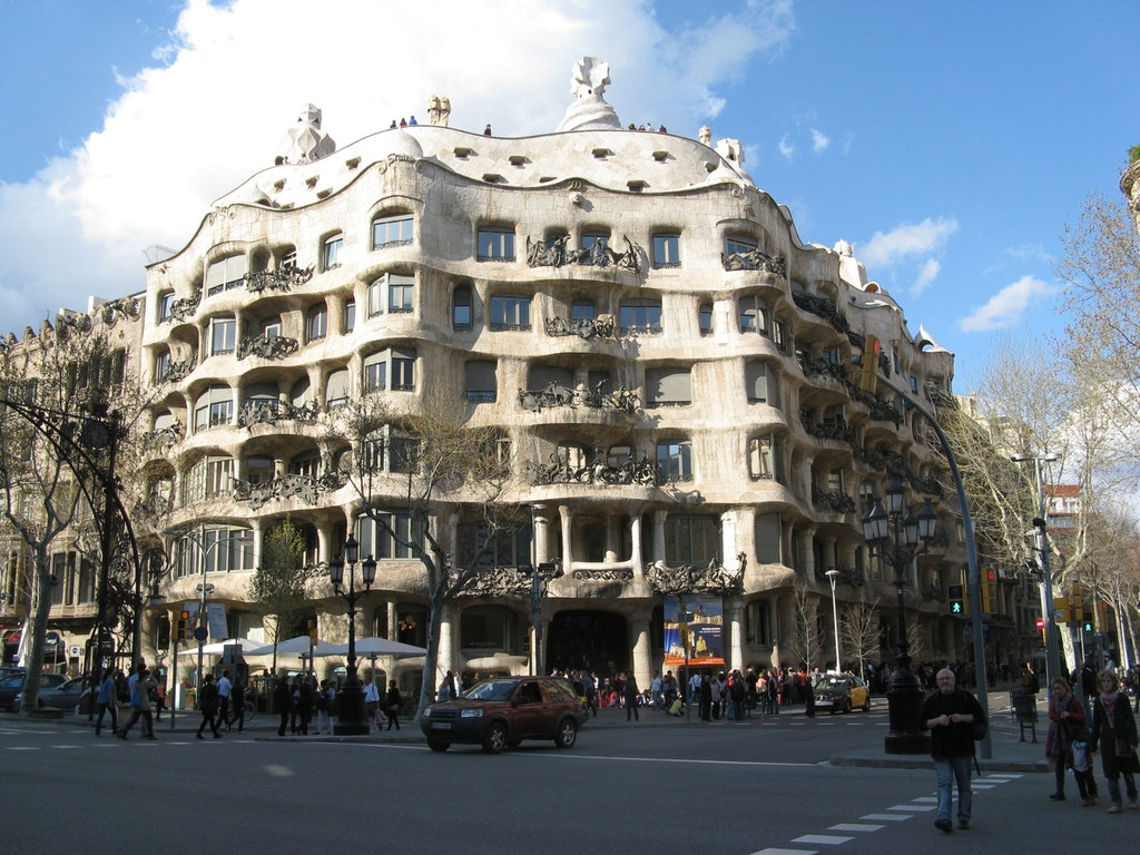 Casa Mila, Barcelona, Works of Antoni Gaudi