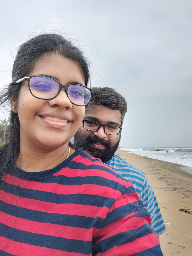 A couple in a Staycation in Chennai