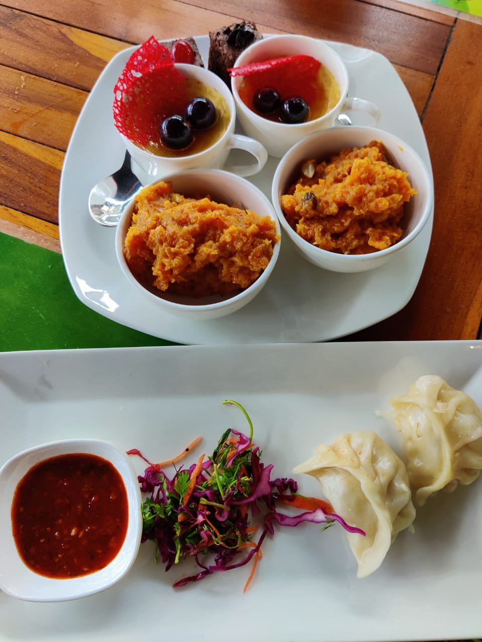 Yummy dishes in the restaurant