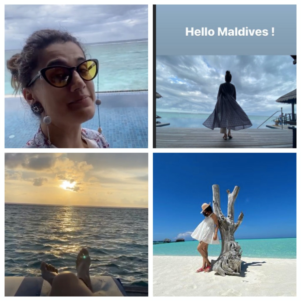 taapsee pannu maldives images instgram