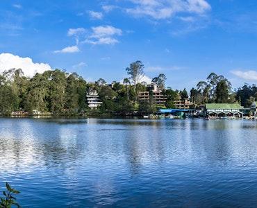 Panaroma of Kodaikanal Lake