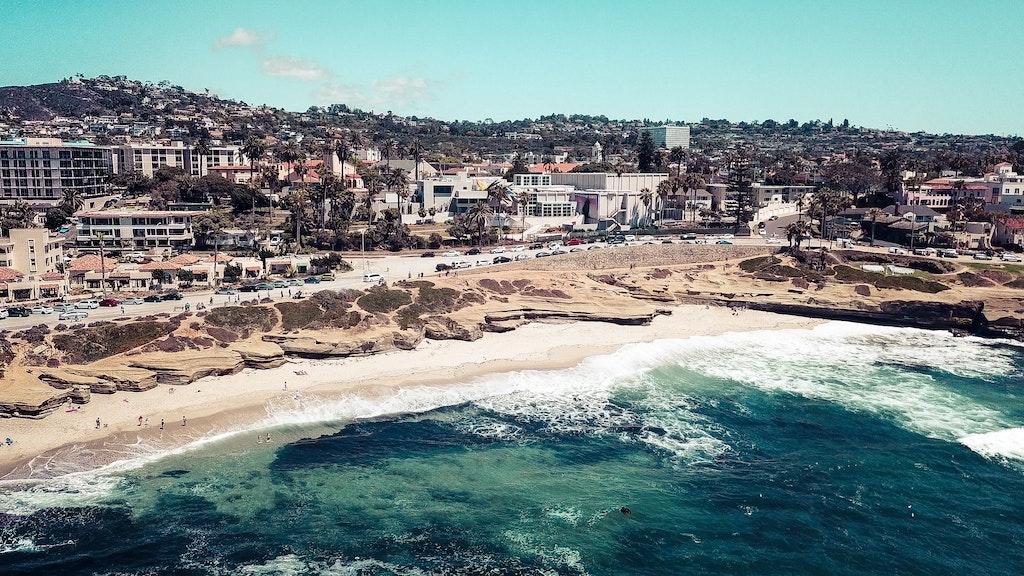 A beach in San Diego