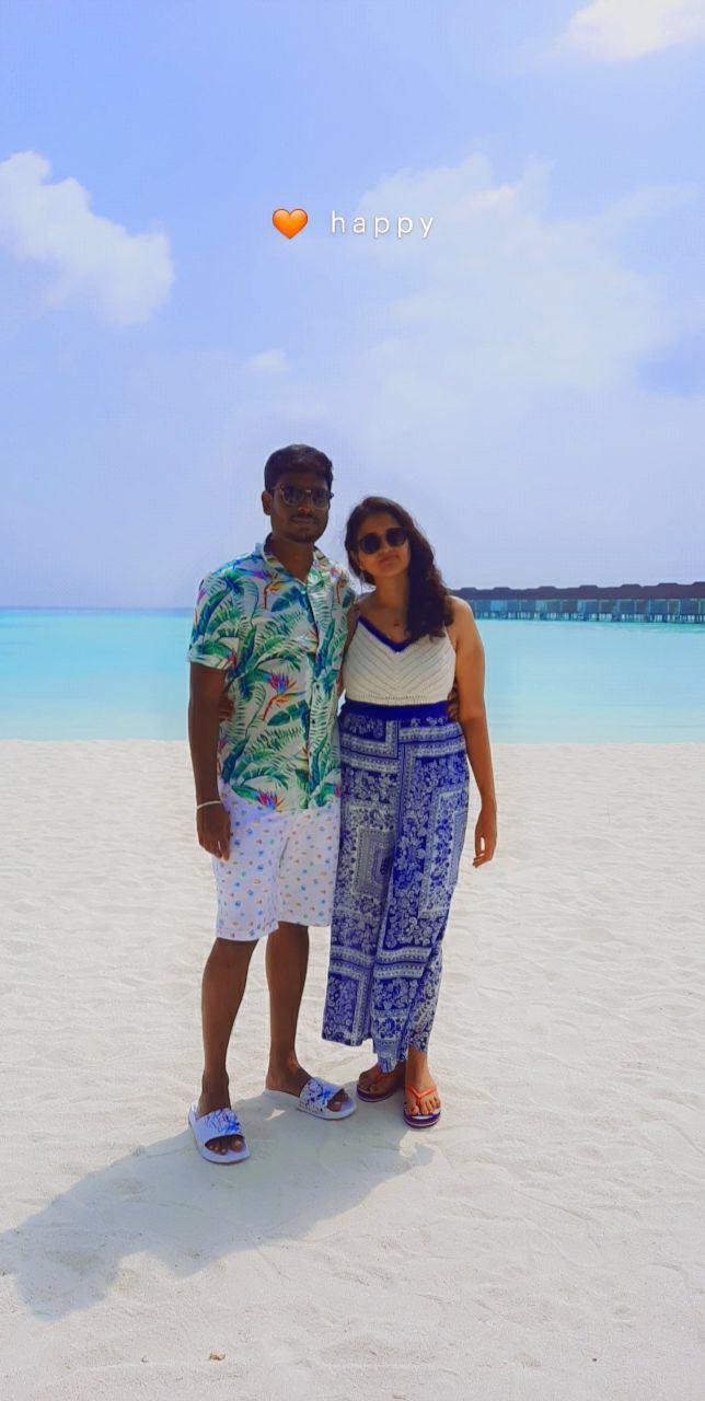 posing before the sea - Maldives Honeymoon