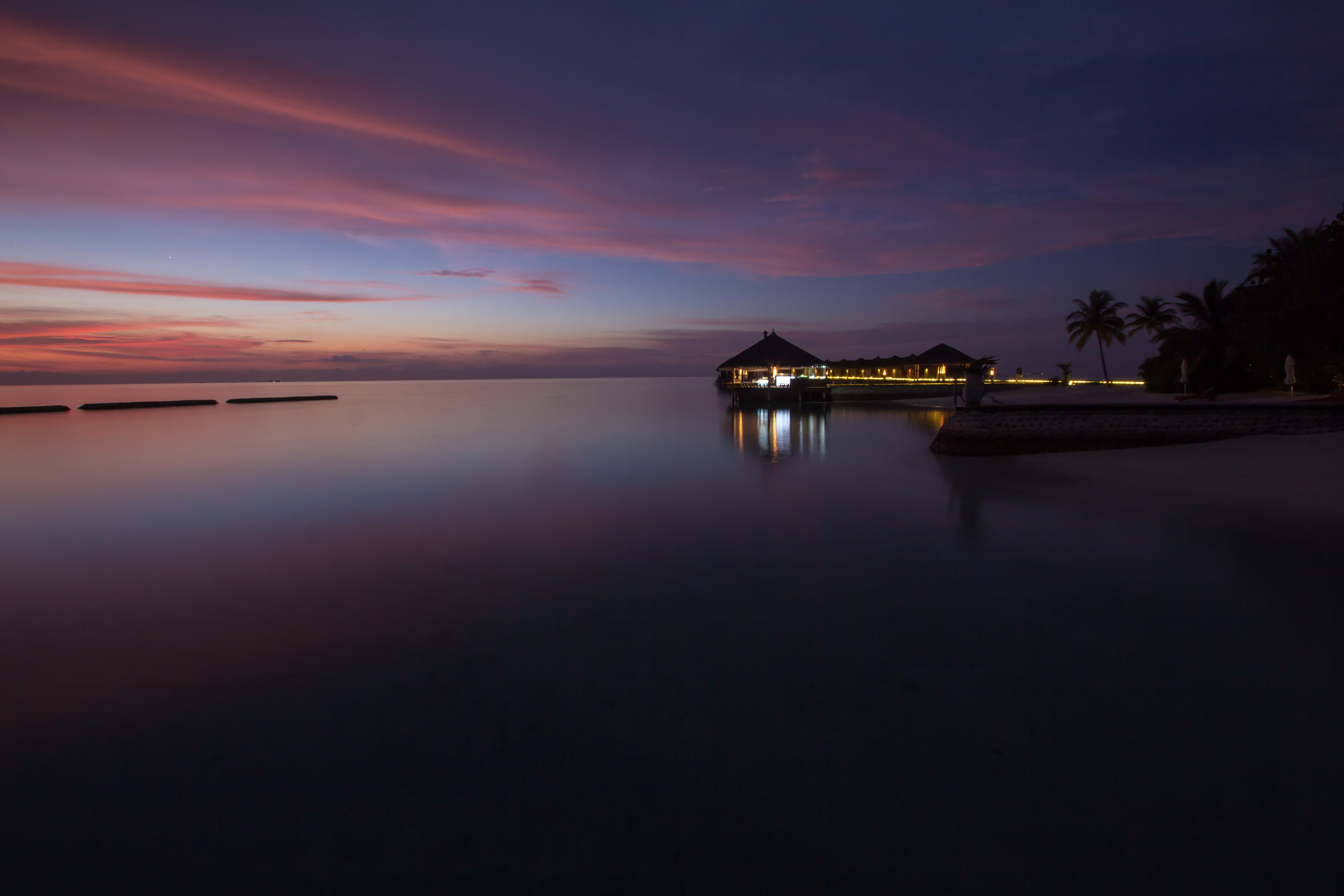 Sunset in the Maldives