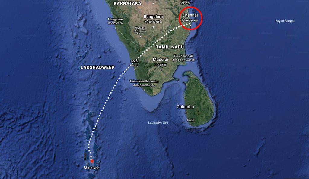 Chennai to Maldives