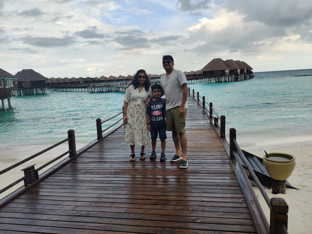 Family holiday to Maldives