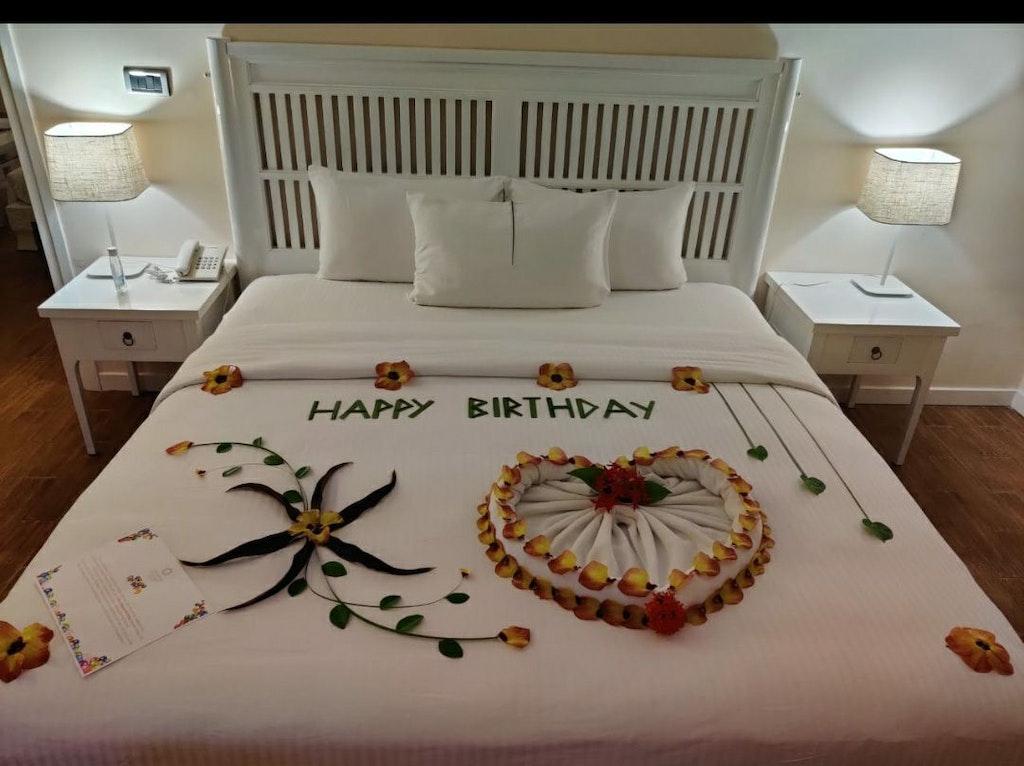 Bed decor in maldives