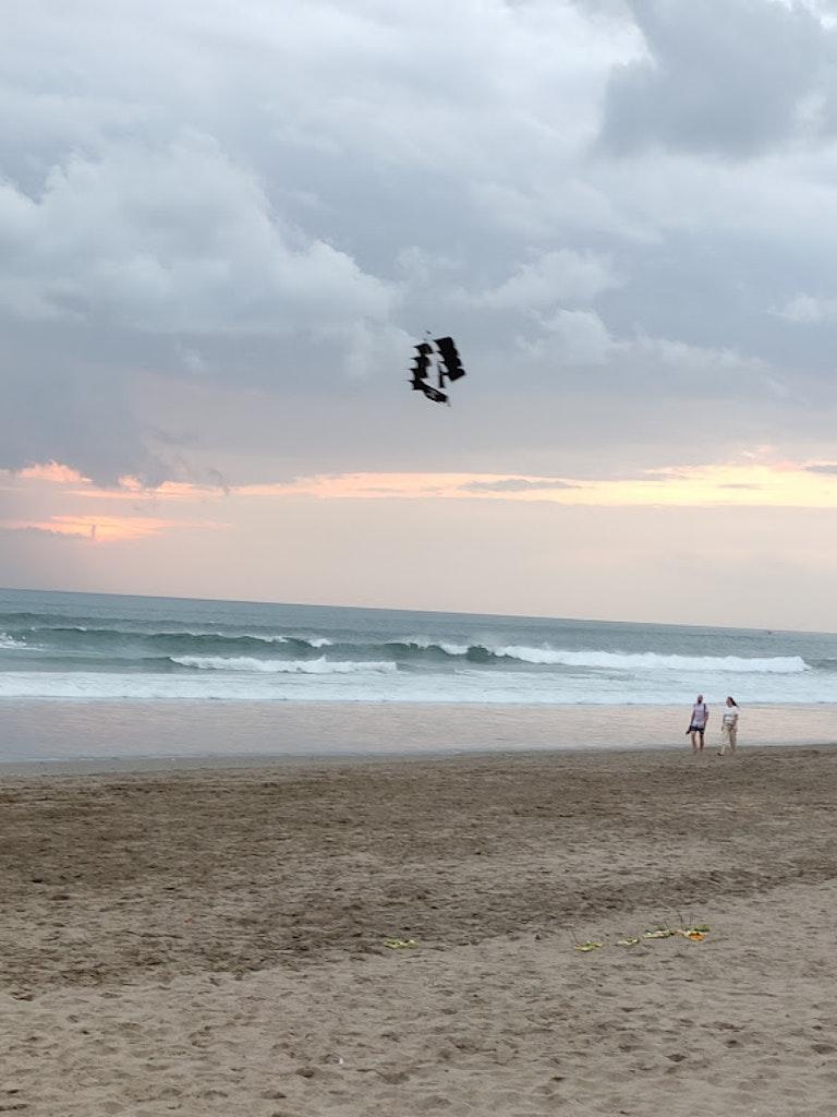 Kitesurfing at Kuta Beach
