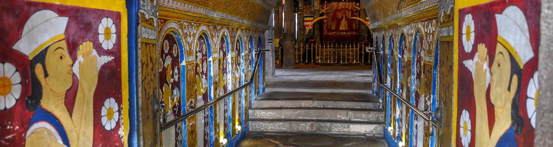 Inside of the Royal Palace of Kandy