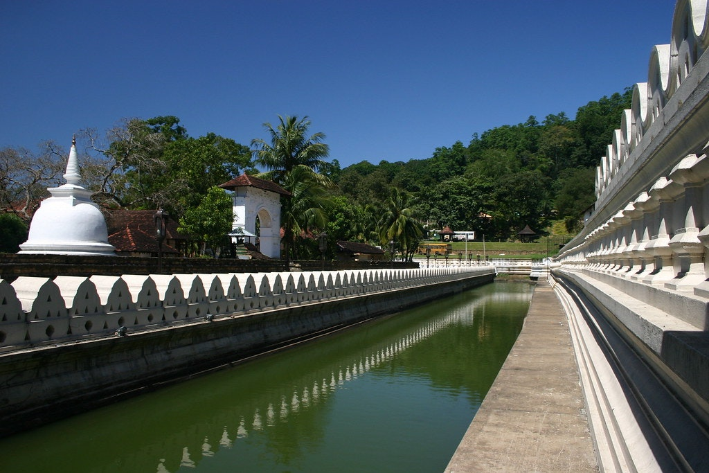 The moat in the Royal Palace of Kandy