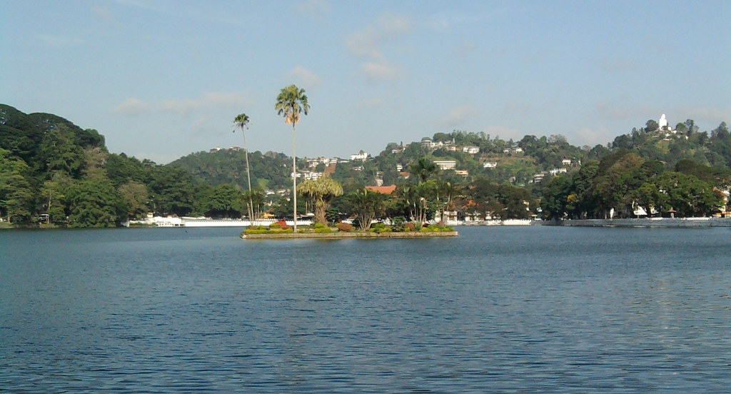 A small piece of land in middle of Kandy Lake