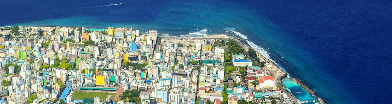 Maldives male city top view