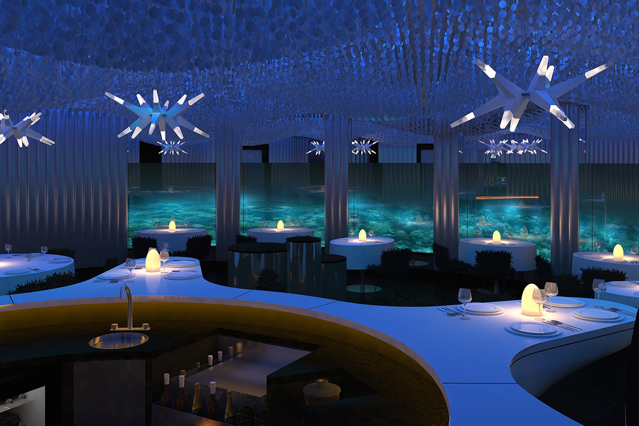 SUBSIX SEAFOOD RESTAURANT IN THE MALDIVES
