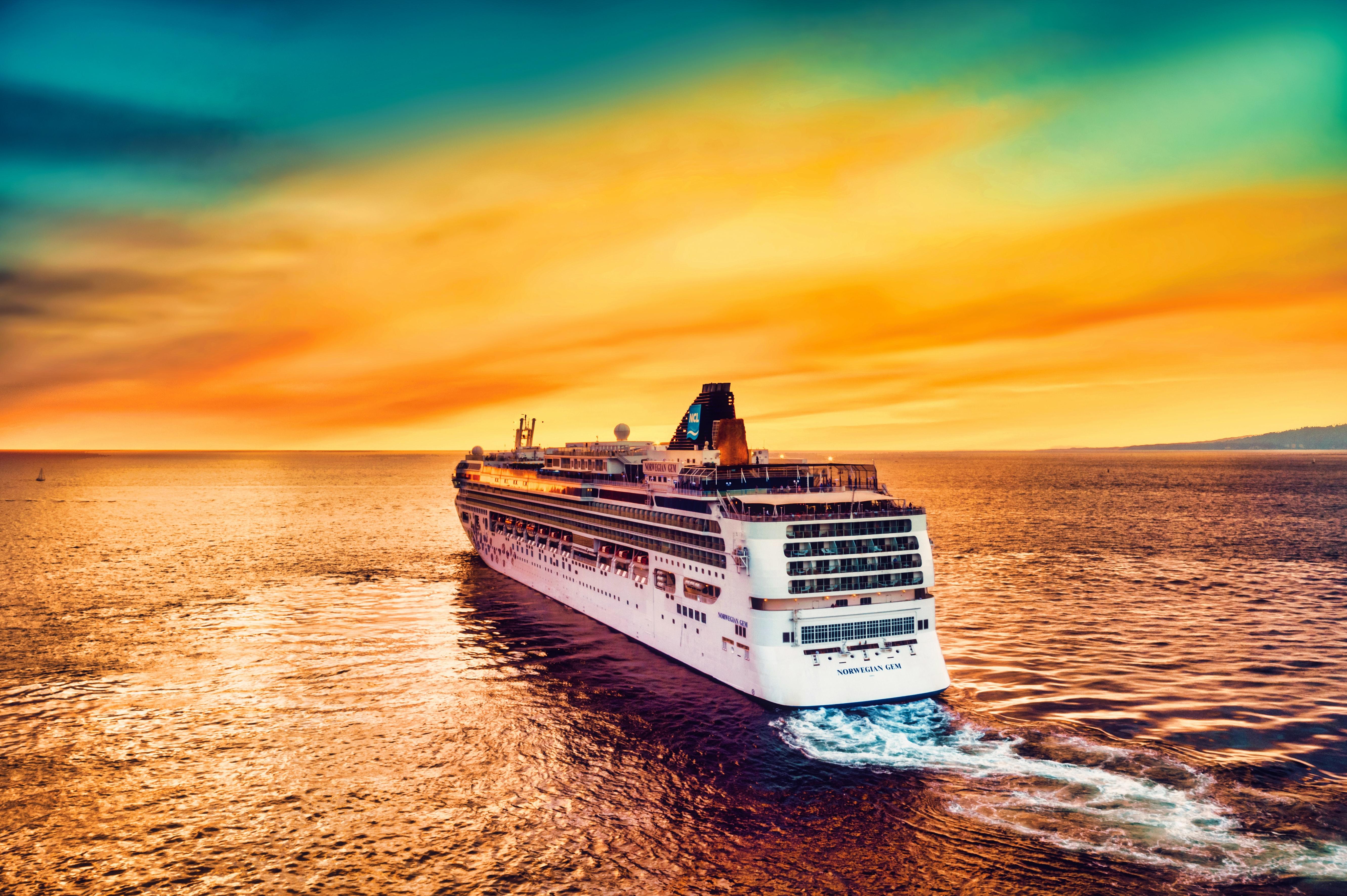 Cruises over sea