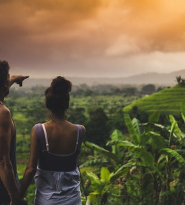 A couple in Bali