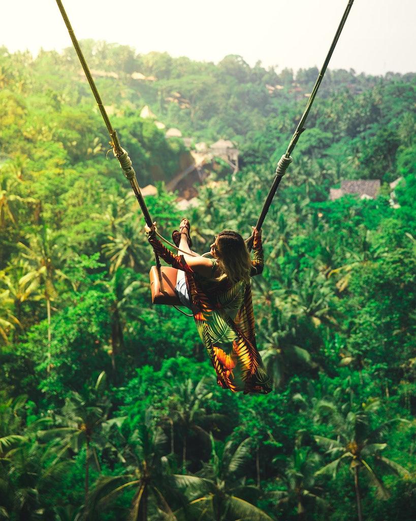 Swing over tree tops