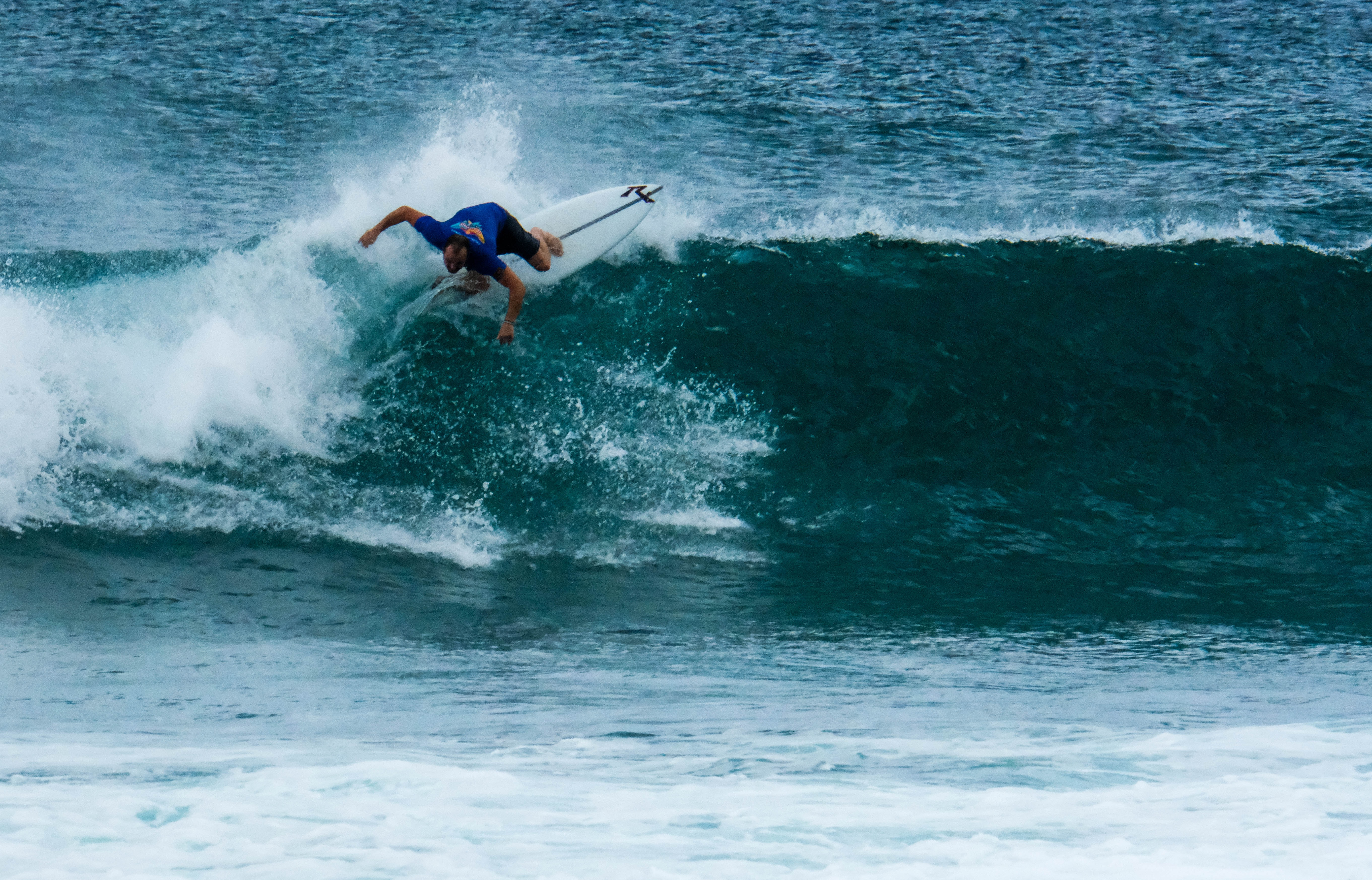 Surfing in Hikkaduwa Beach