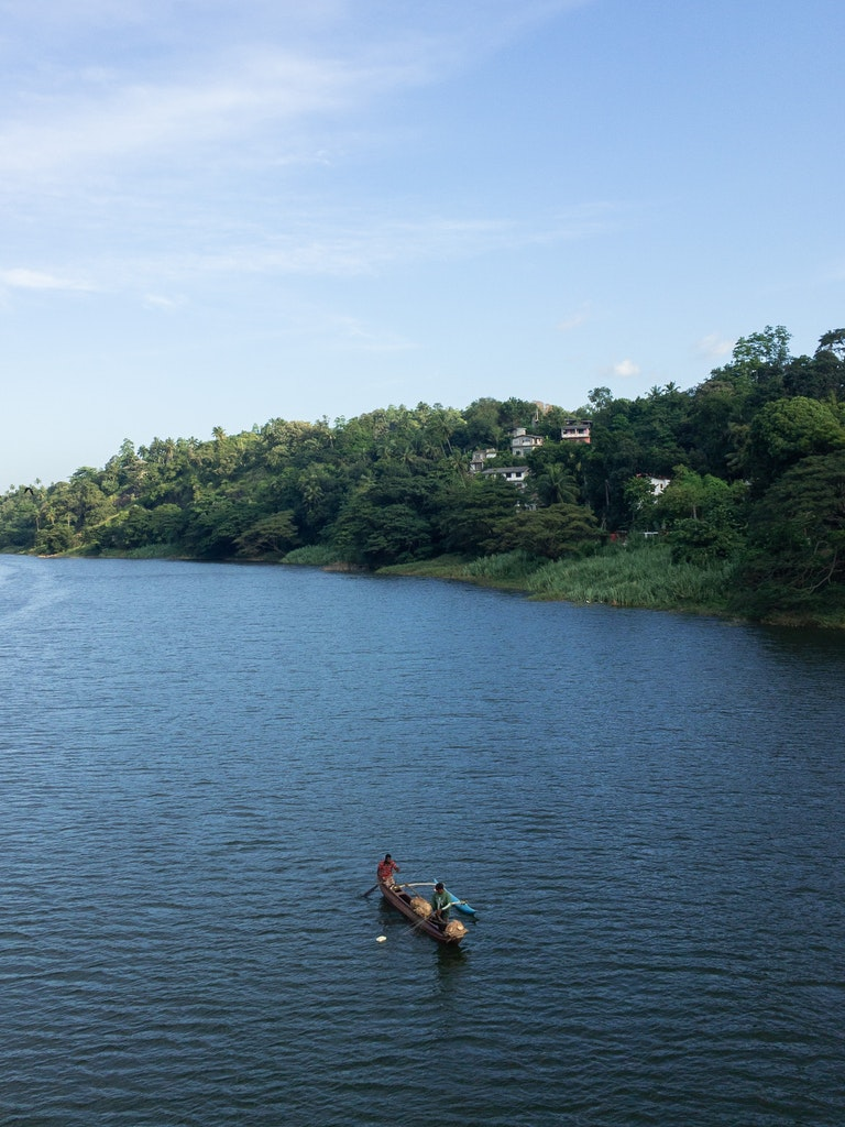Lake in Kandy, Sri Lanka
