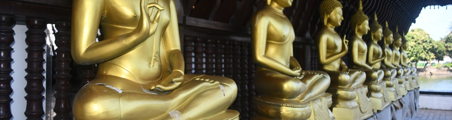 Statues of Buddha in Colombo
