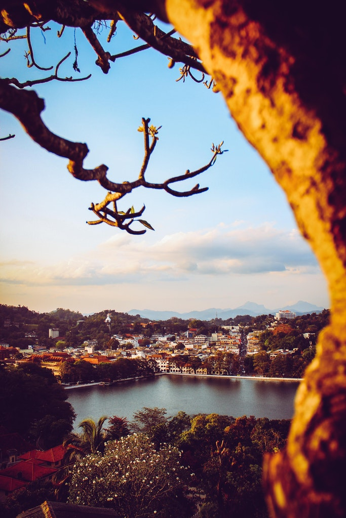 A scenic view of Kandy, Sri Lanka
