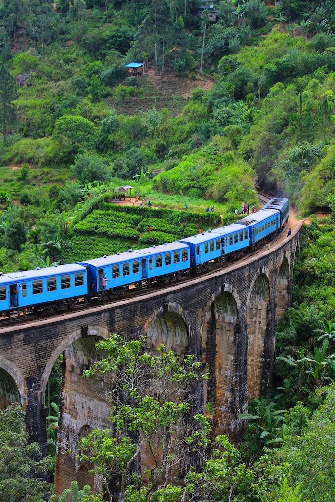 A train to reach the hilly regions of Sri Lanka