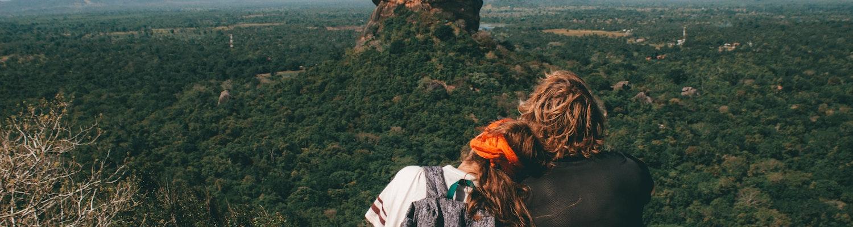 A honeymoon couple in Sigiriya