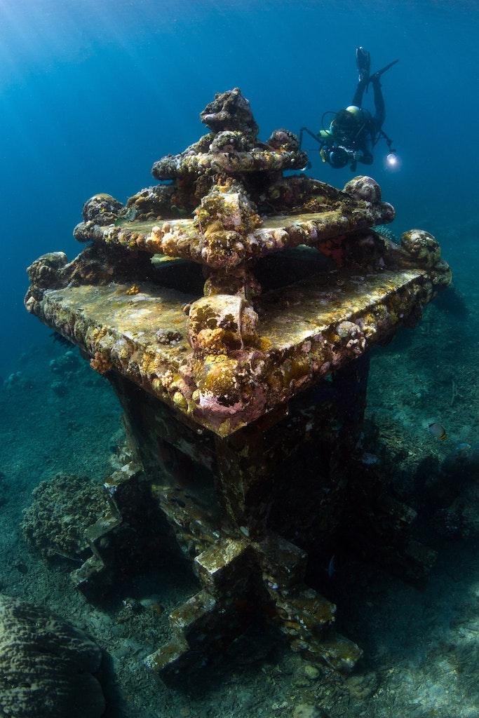 Snorkel through underwater sites