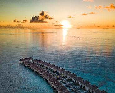 Beach villa in Maldives