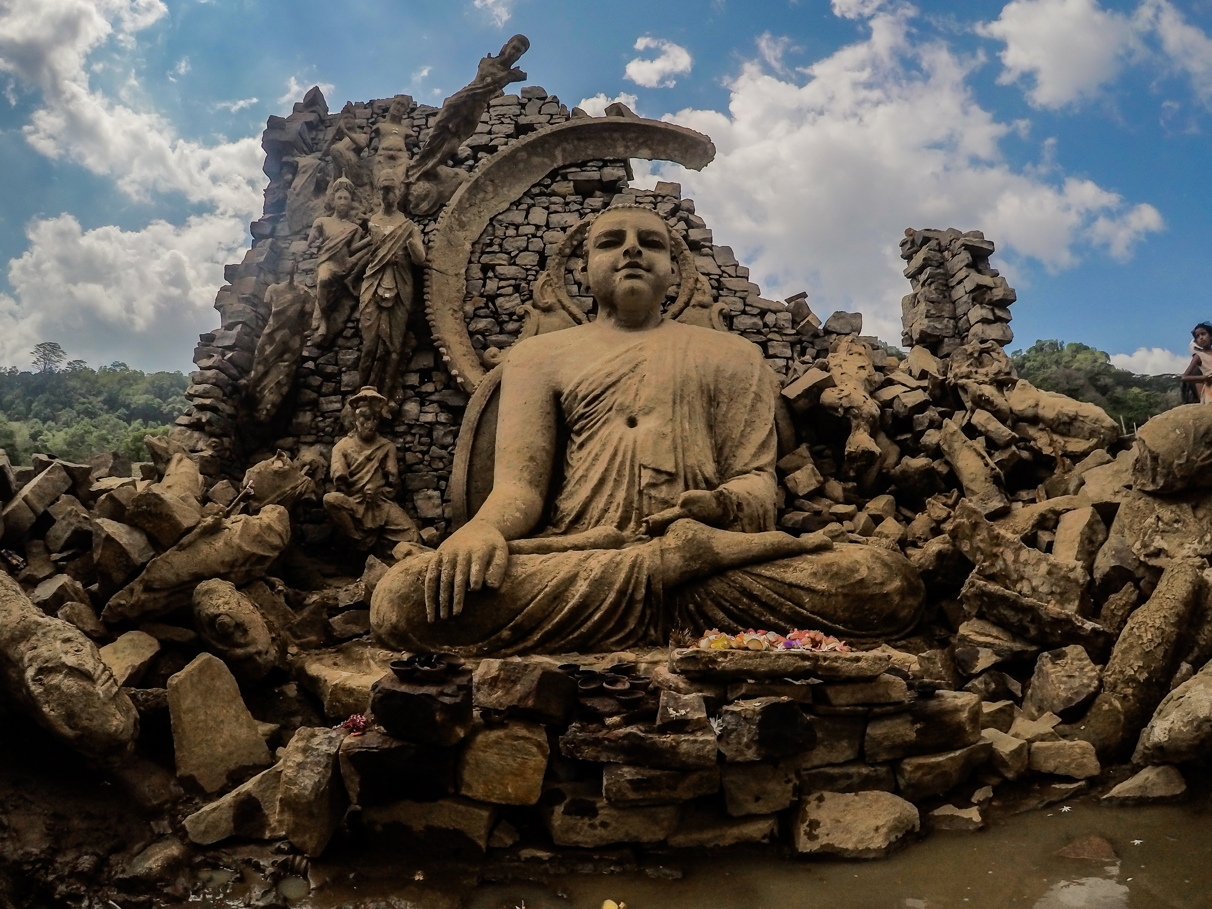Buddha Statue at Nuwara Eliya in Sri Lanka