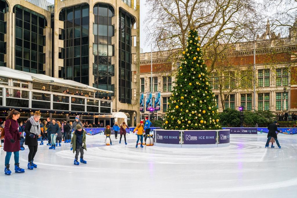 Ice skating ring London