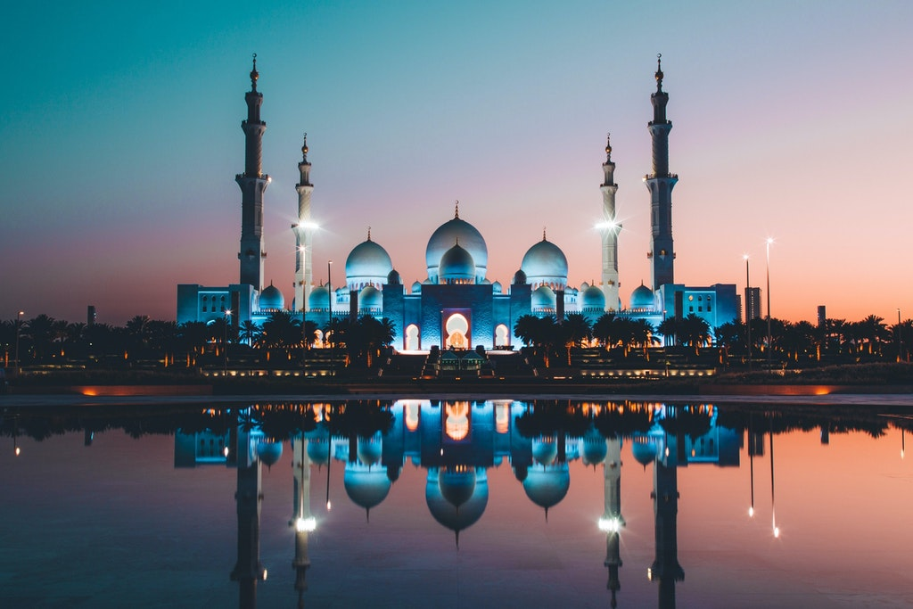 A mosque in Abu Dhabi