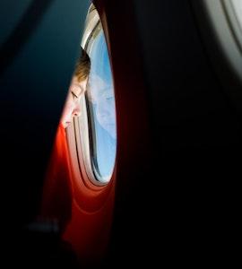 A kid on a flight