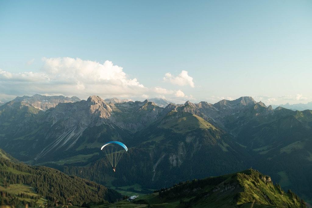 Best places for paragliding in Austria, Vorarlberg in Austria