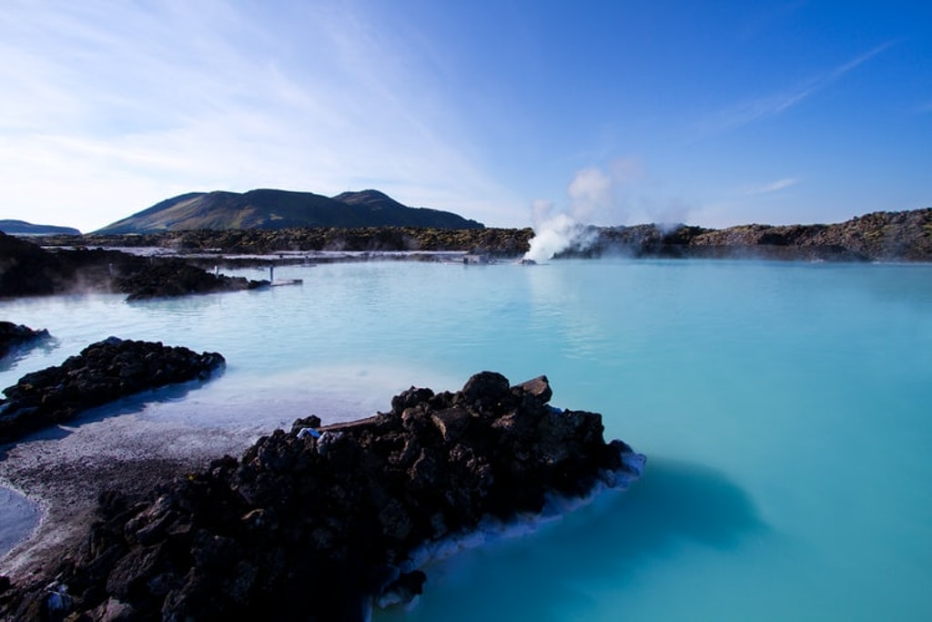 Hot bath at the Blue Lagoon
