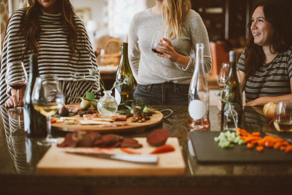 Intimate Wine Party at Home