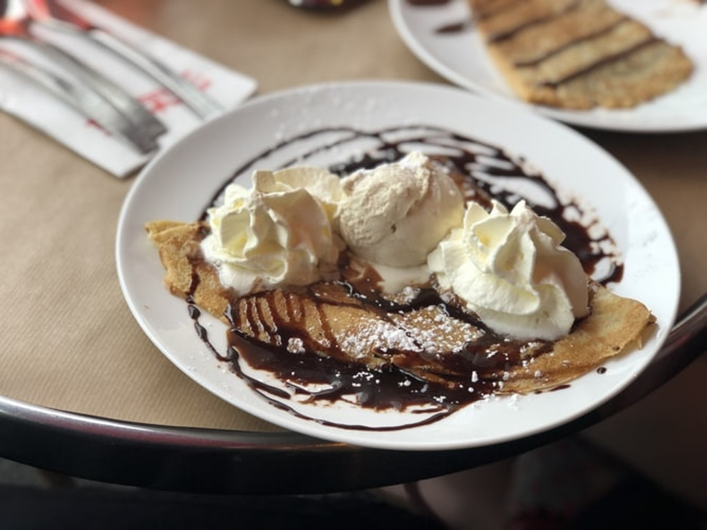 Crepe with ice cream, Places to visit & Things to do in France in December
