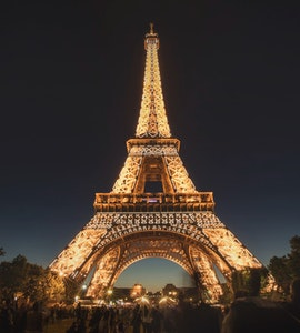 Eiffel Tower view at night, Things to do in Paris in Winter