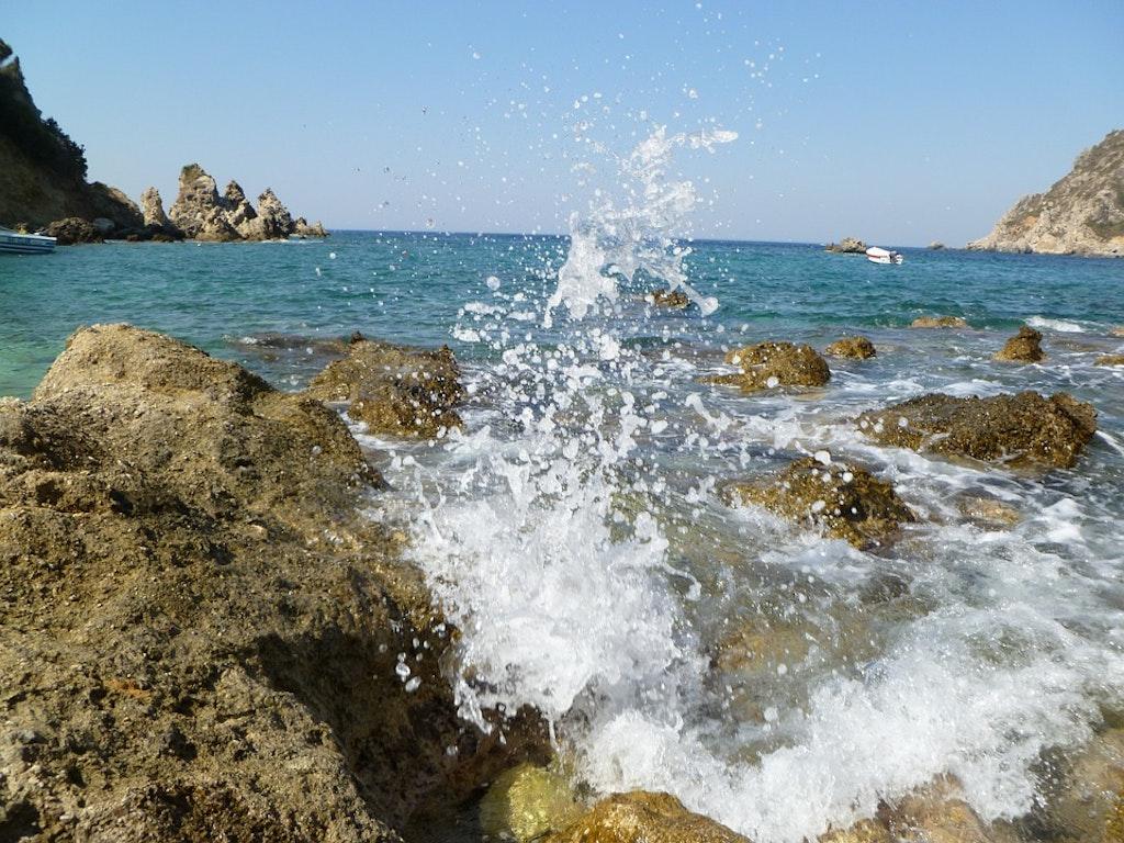 water, sea, stones