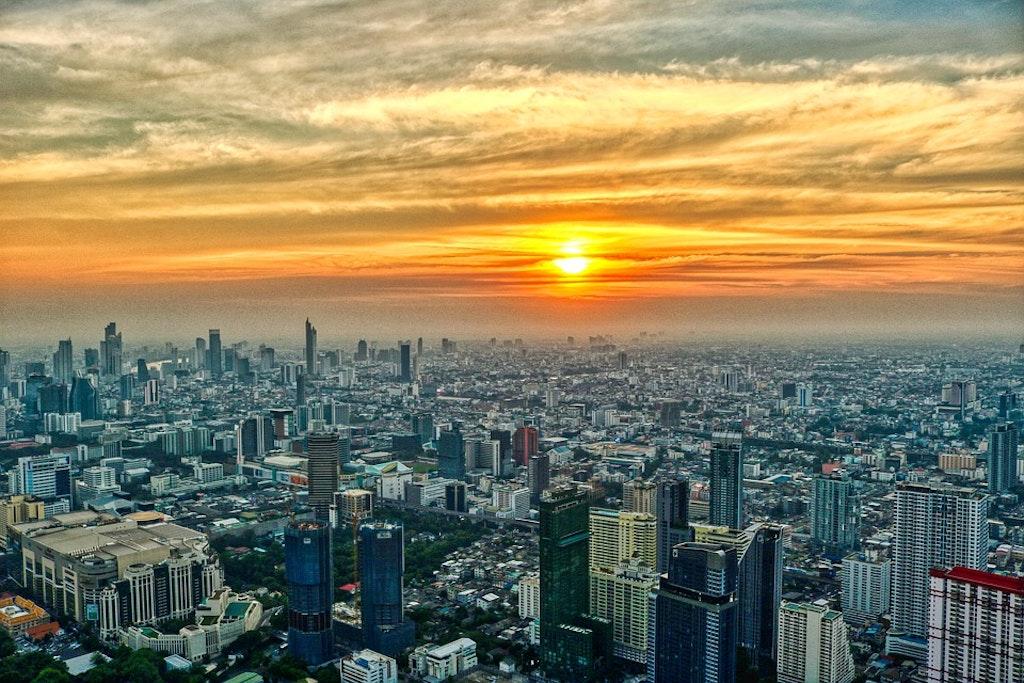 Rooftop restaurants in Bangkok, thailand